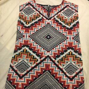 Aztec printed Mini dress